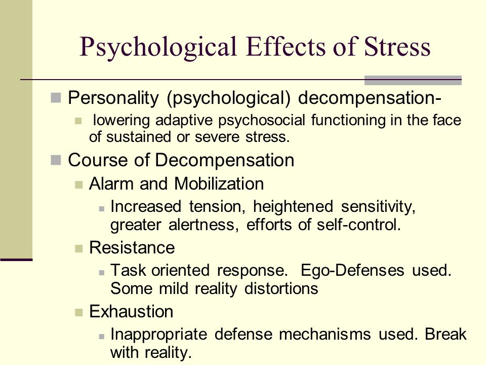 the triggers of psychological stress and its main health related consequences Stress is defined in terms of how it impacts physical and psychological health this uncertainty causes stress that consequences of work-related stress on.