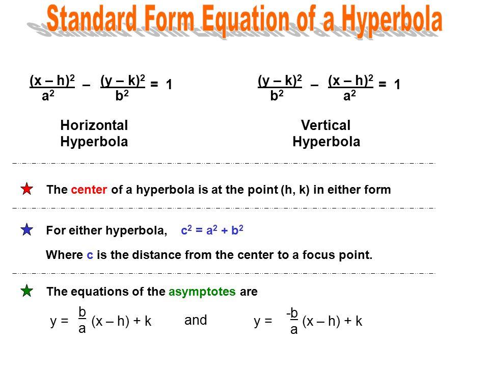 Standard Form For A Hyperbola Dolapgnetband