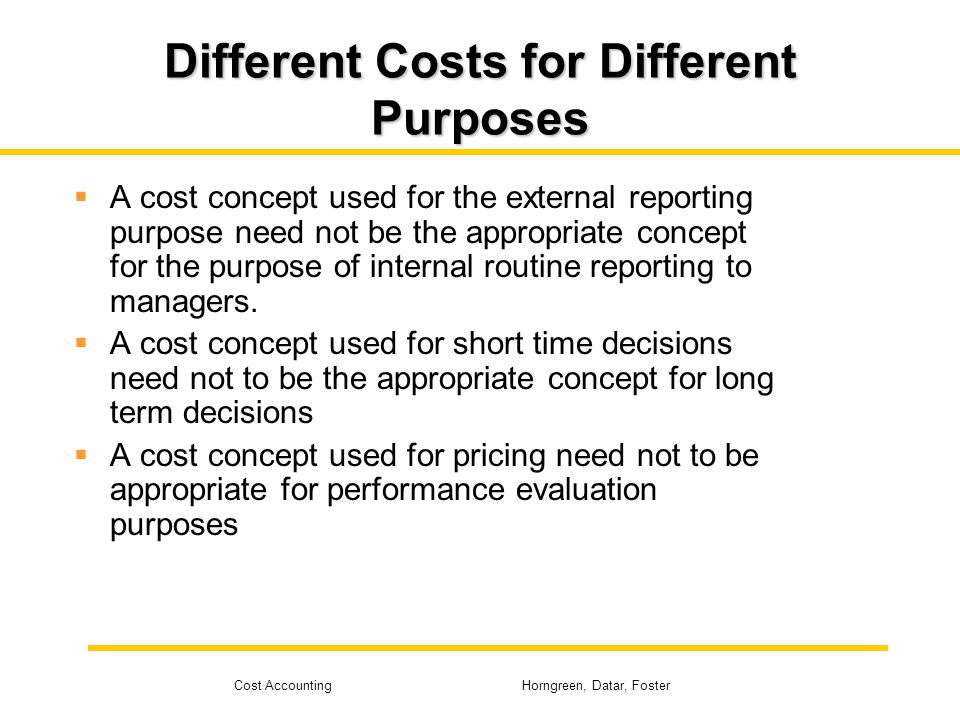 purpose of cost accounting Cost accounting has been defined by many accounting scholars in various forums there is no one watertight definition of cost accounting, but the various definitions.