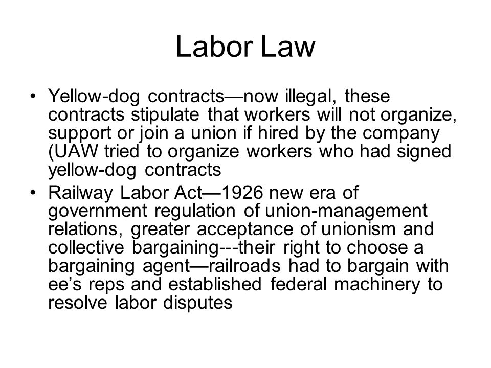 labor law and unions Experience has proved that protection by law of the right of employees to  and labor organizations each recognize under law one another's  unions employee.