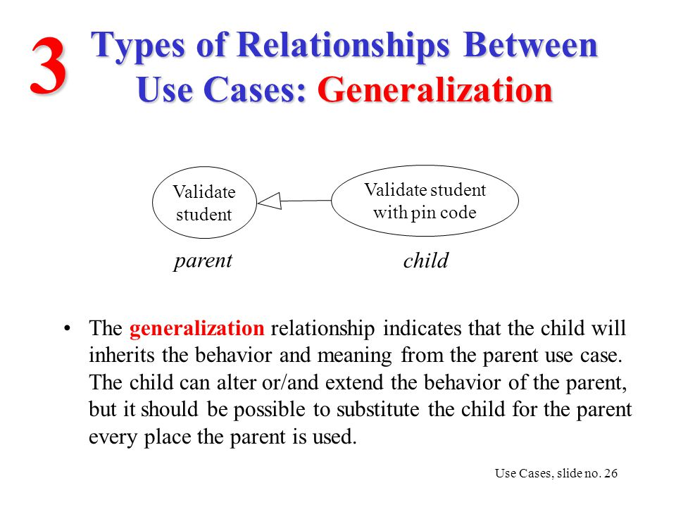 Use case diagrams ppt video online download 26 types of relationships between use cases generalization ccuart Image collections