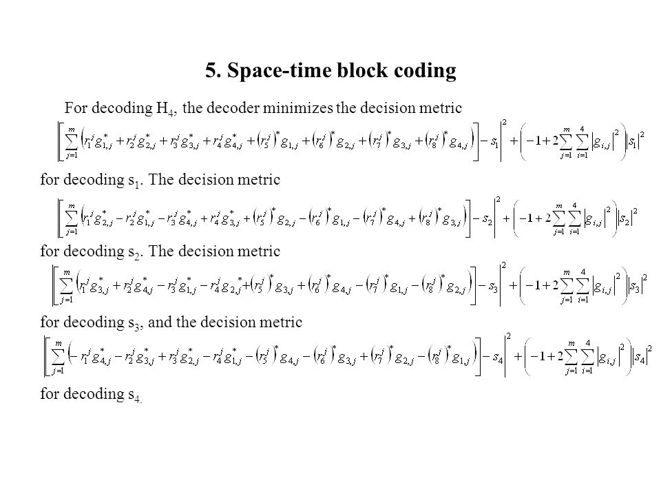 space time block coding thesis