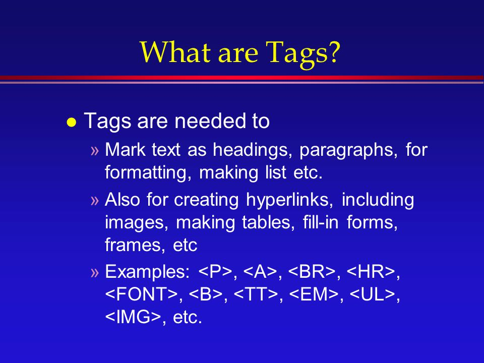 html tags list with examples pdf download