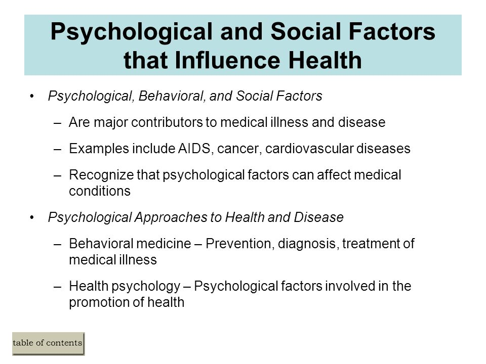 influence on behavior and psychological Tutorials for question - psy 103 - influences on behavior and psychological disorders presentation categorized under psychology and abnormal psychology.