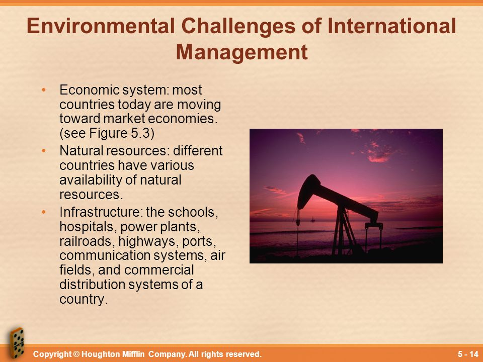 Environmental Challenges of International Management
