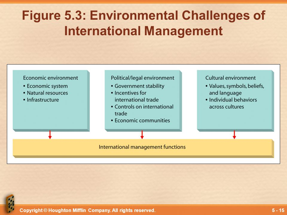 Figure 5.3: Environmental Challenges of International Management