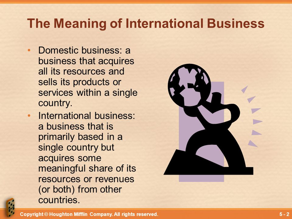The Meaning of International Business