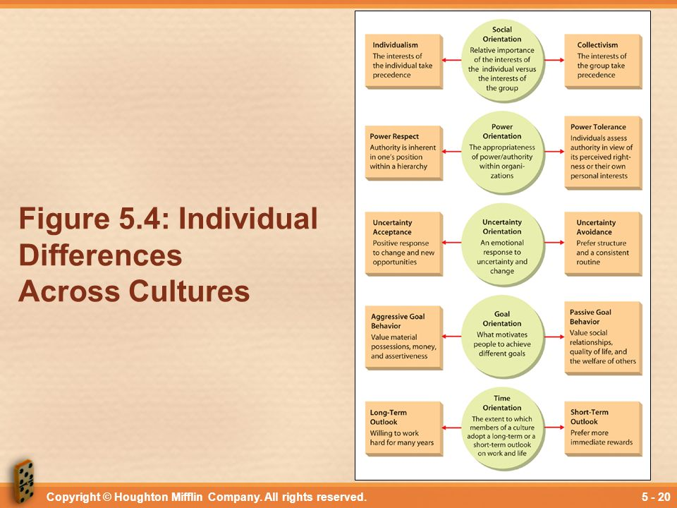 Figure 5.4: Individual Differences Across Cultures