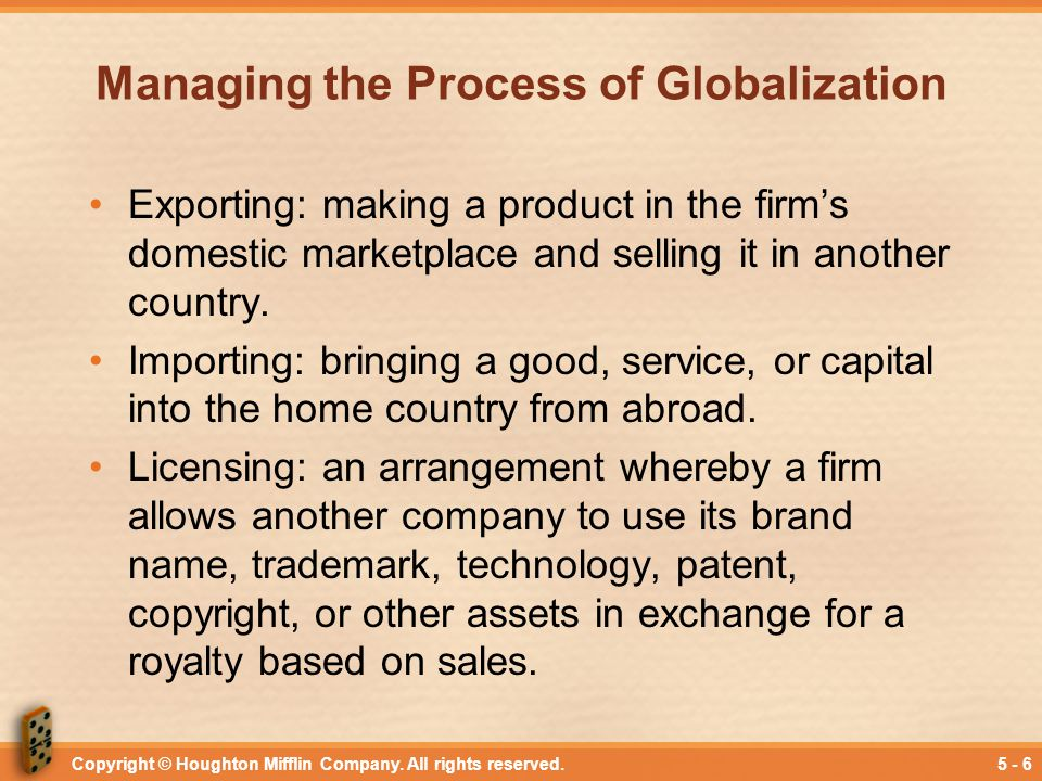 Managing the Process of Globalization