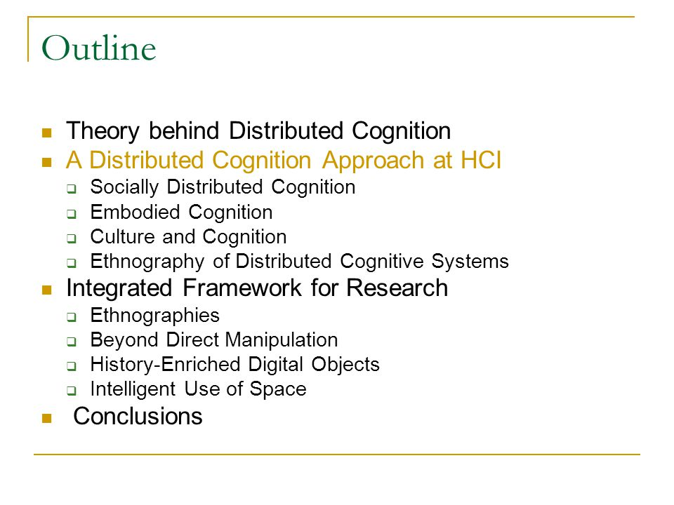 distributed cognition in addition to ram explore paper