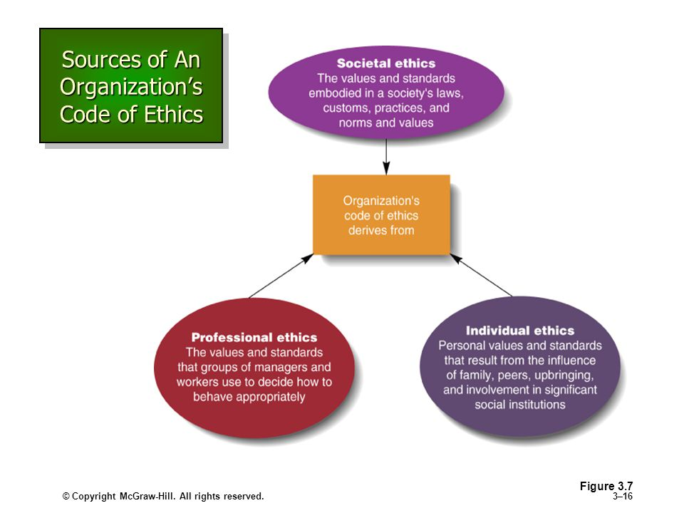 Sources of An Organization's Code of Ethics