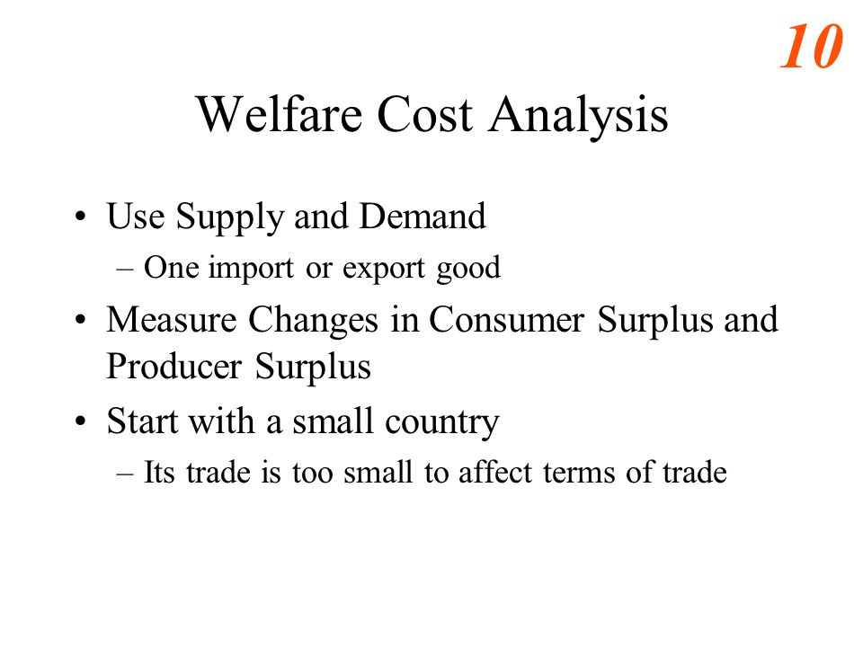 Welfare Cost Analysis Use Supply and Demand