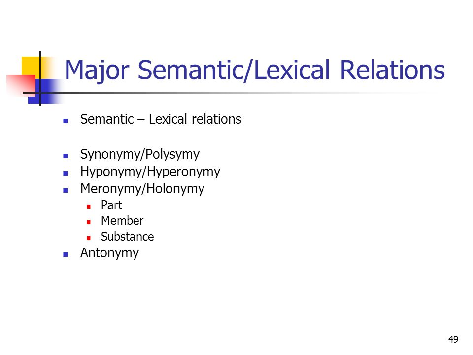 semantic and lexical relation We represent semantic relations obtained from dictionary translations of the  chosen concepts as a network two meanings are linked if they.