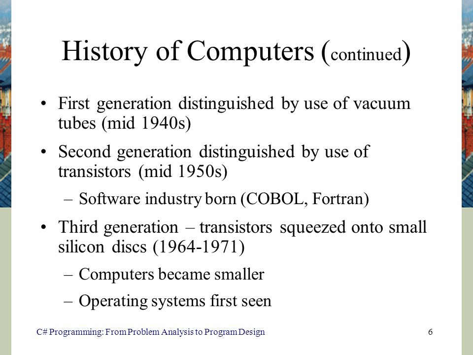 an introduction and an analysis of the issue of y2k in computers Chapter 8 media and technology  we might look back at the enormous and clunky computers of the 1970s that had about as much  meta-data analysis to.