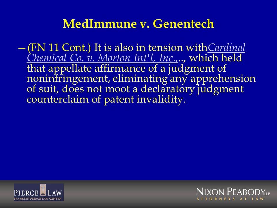 MedImmune v. Genentech