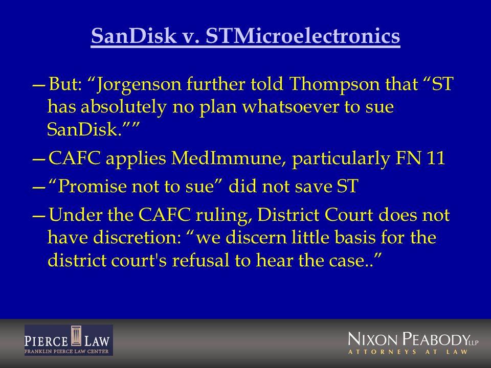 SanDisk v. STMicroelectronics