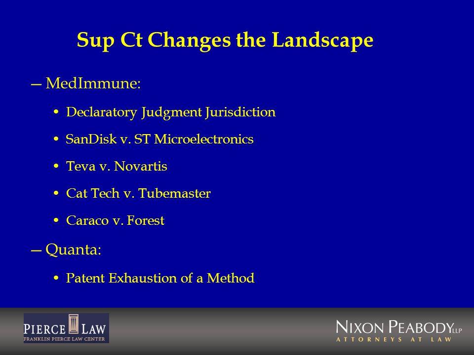 Sup Ct Changes the Landscape