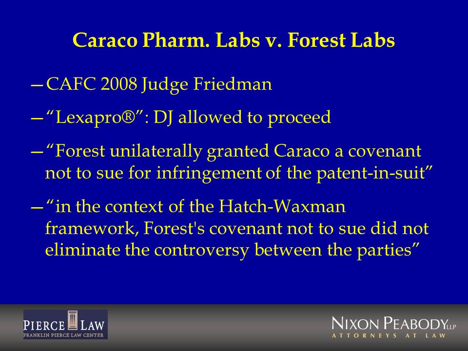 Caraco Pharm. Labs v. Forest Labs