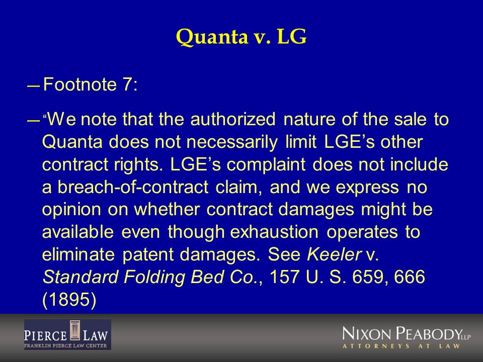 Quanta v. LG Footnote 7: