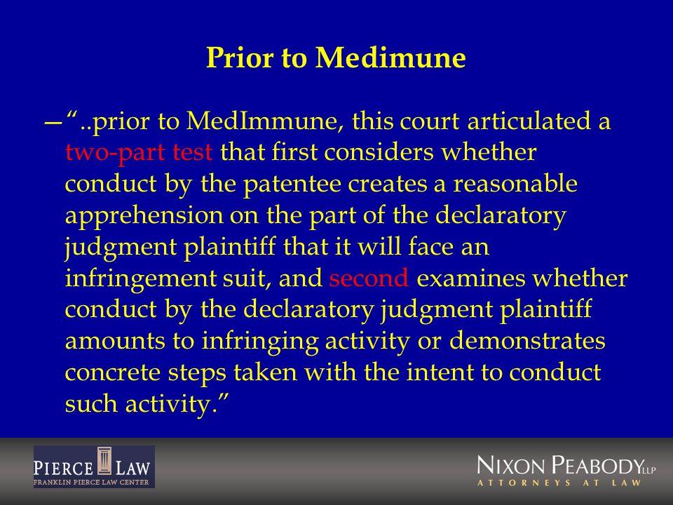 Prior to Medimune
