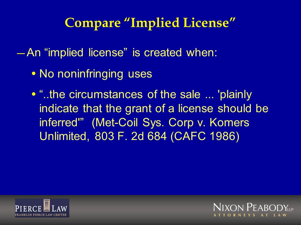 Compare Implied License