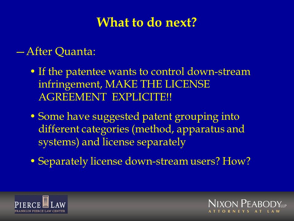 What to do next After Quanta: