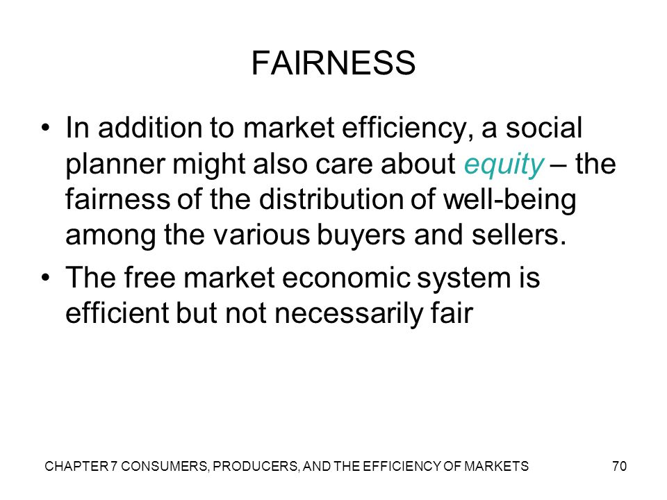 efficiency and fairness of markets An introduction to economics, what is economics, economic systems and the american economy, practical economics: how theory works for you, microeconomics: markets, prices and business competition, microeconomics: american business in action , macroeconomics the nation's economy, economic growth in developing nations, the global economy.