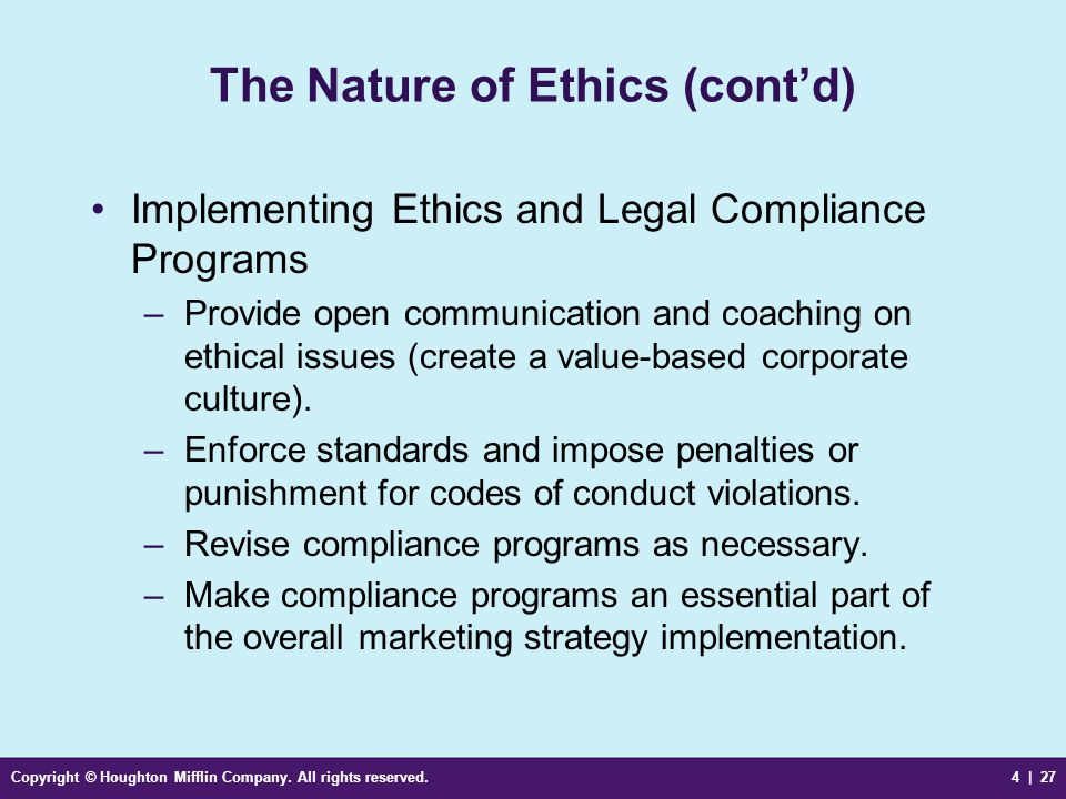 the issues to consider when implementing a corporate code of ethics The code of ethics will help to guide you in a business environment that has   within linde and the means by which concerns or allegations may be raised by   un embargoes, along with the laws of individual countries that implement  these.