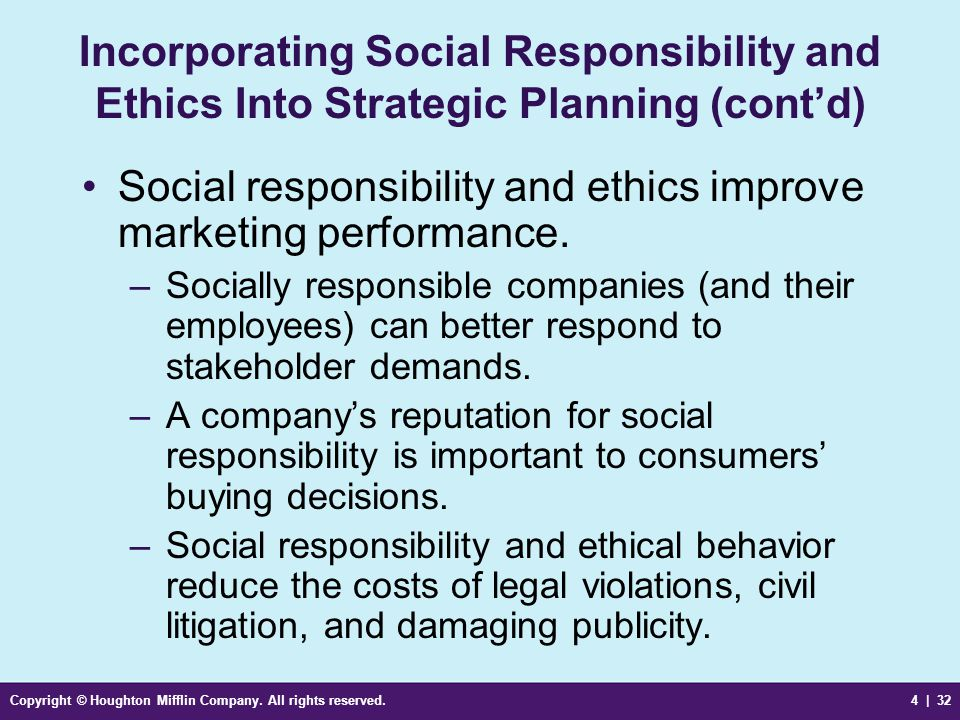 """ethics social responsibility Corporate social responsibility, or """"csr,"""" refers to the need for businesses to be good corporate citizens csr involves going beyond the law's requirements in protecting the environment and contributing to social welfare it is widely accepted as an obligation of modern business csr goes."""