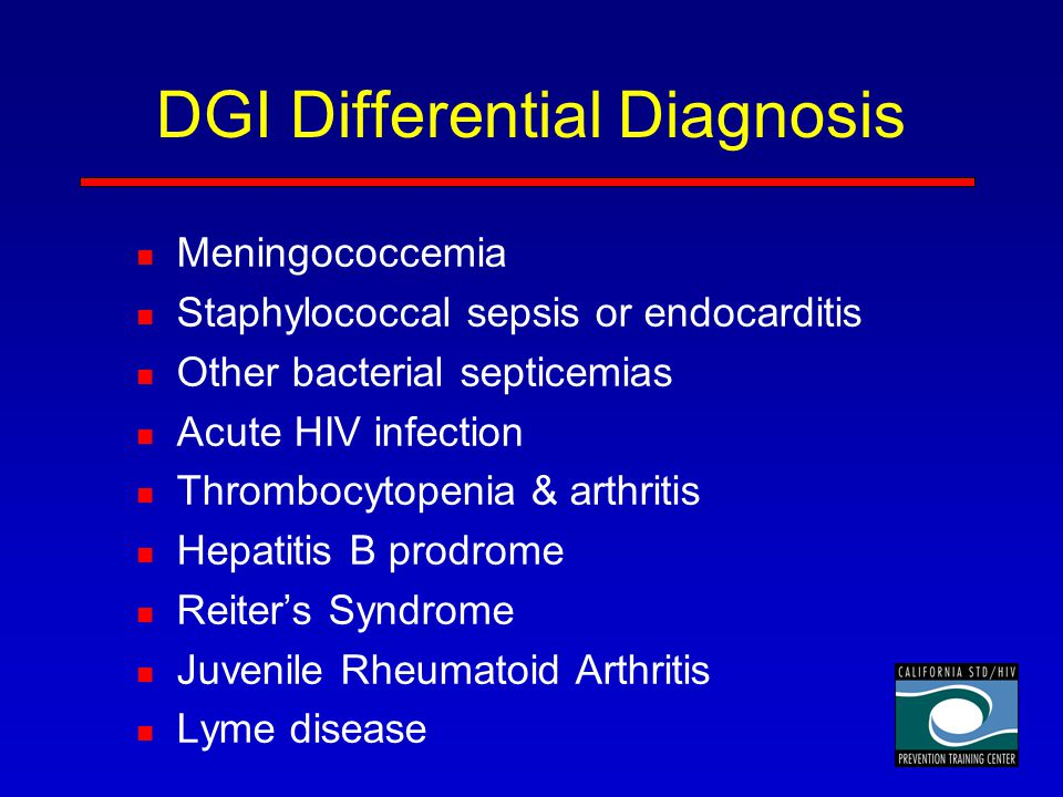 DGI Differential Diagnosis