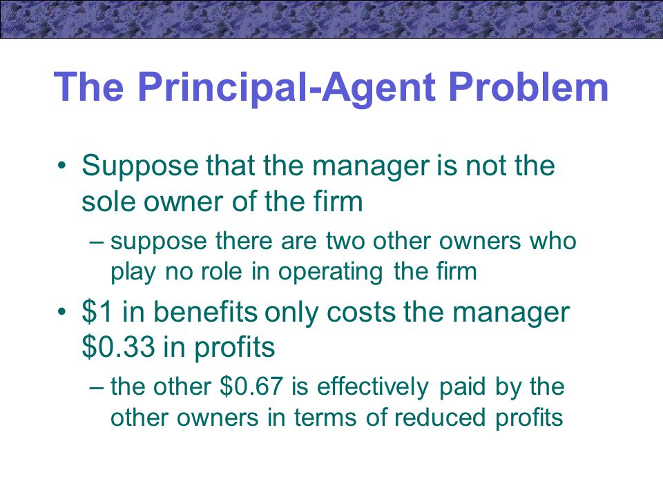 principal agency problem causes and costs Also sometimes referred to as the principal-agent problem  will involve  transaction costs (often referred to as agency costs), and these costs may  sometimes.