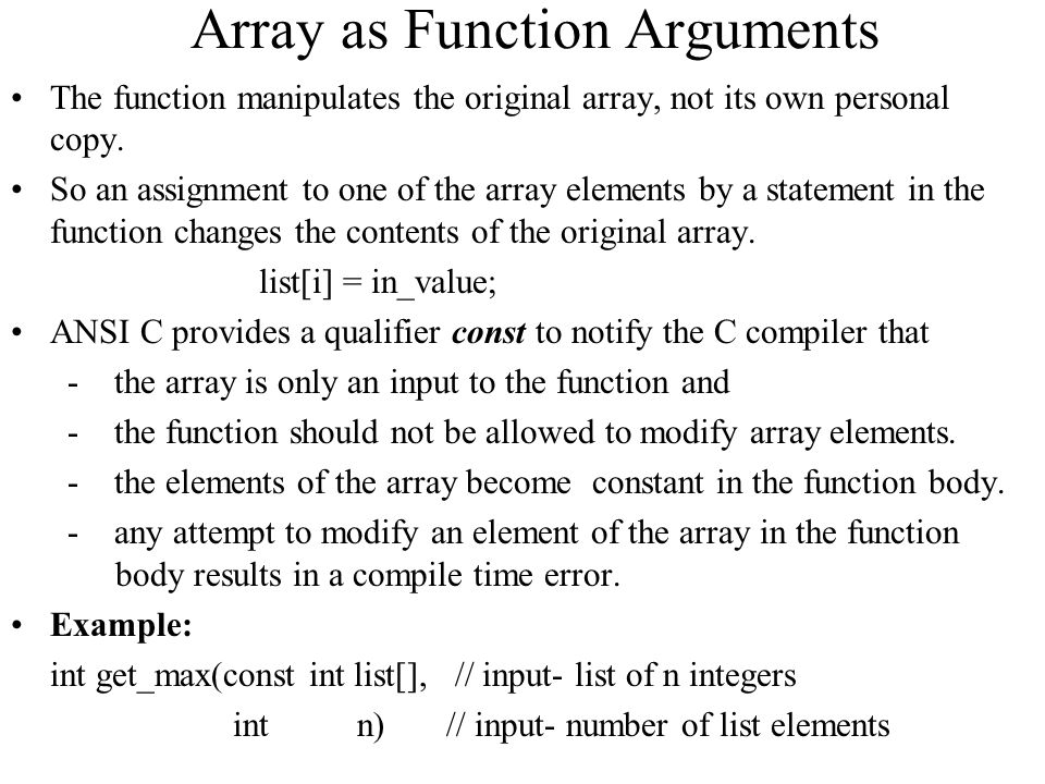 Arrays why we need data structure ppt video online download Ansi c compiler online