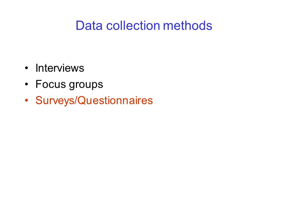 survey method of data collection pdf