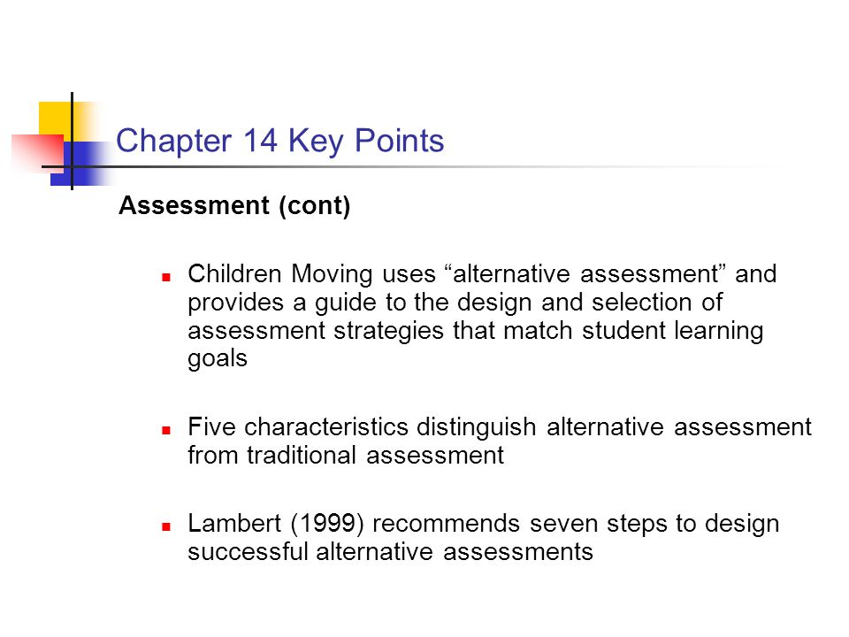 Chapter 14 Key Points Assessment (cont)