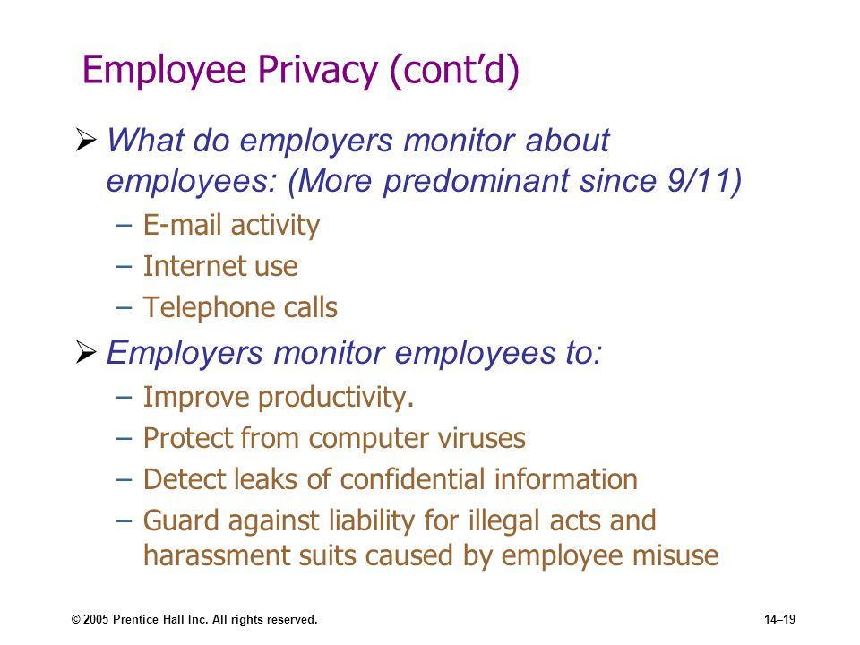 e mail monitoring of employees ethical social Employers are increasingly digging into the social media activities of prospective and current hires should companies monitor their employees' social media.