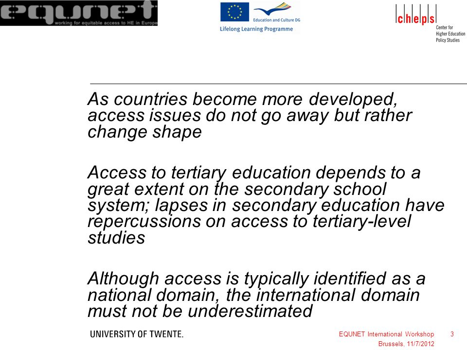 As countries become more developed, access issues do not go away but rather change shape