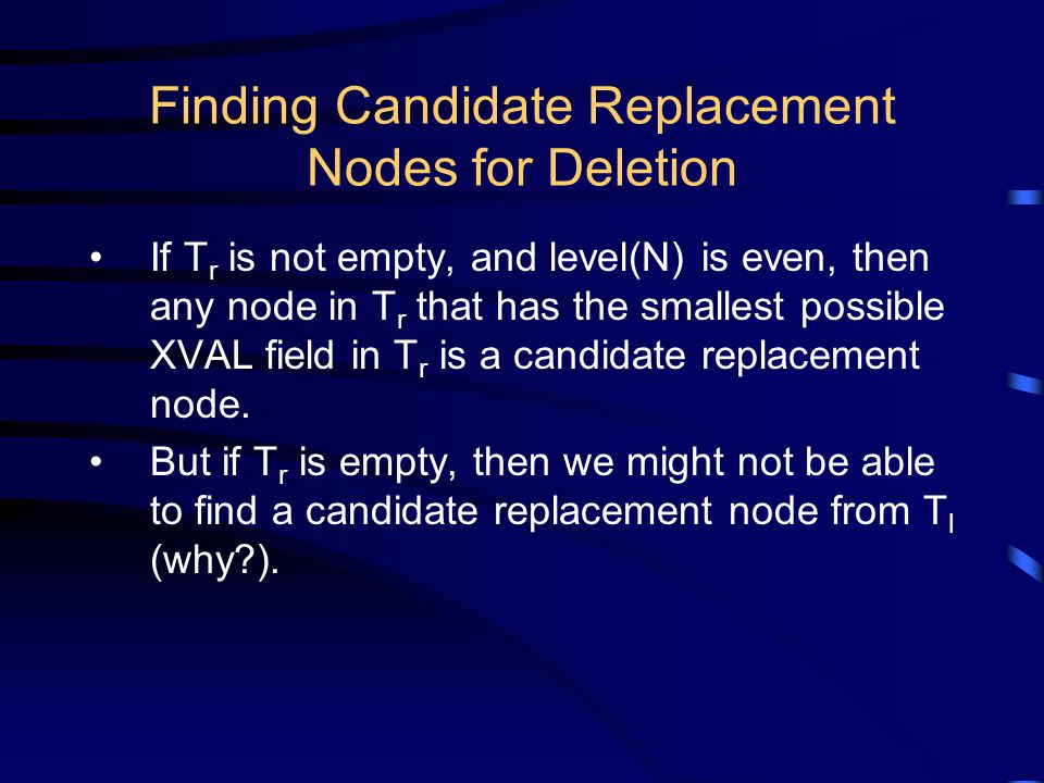 23 Finding Candidate Replacement ...