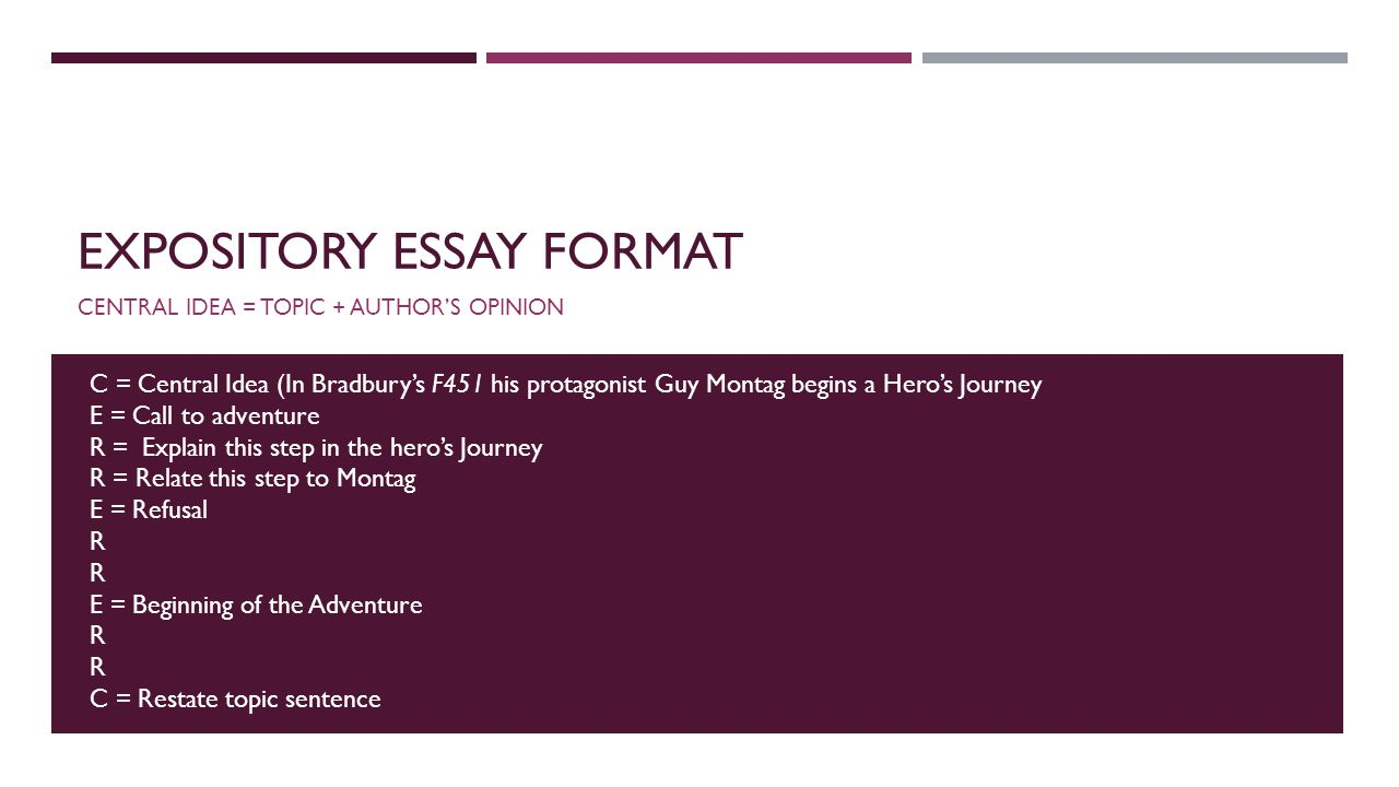 make sure you have a hero s journey outline stapled to the a side  6 expository essay format
