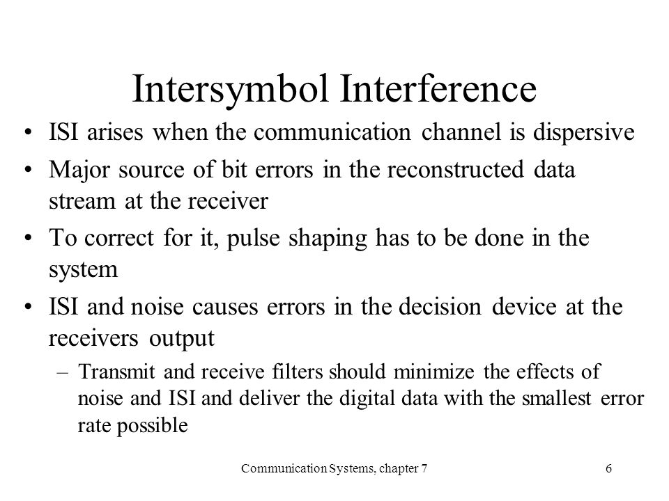 Intersymbol Interference