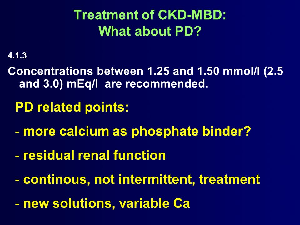 Treatment of CKD-MBD: What about PD