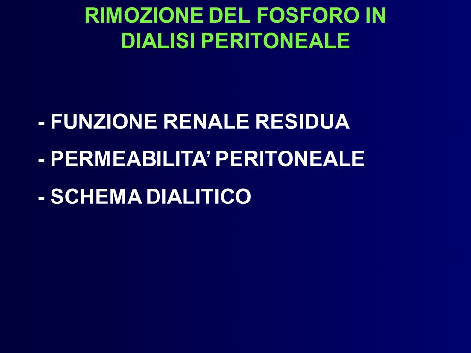 RIMOZIONE DEL FOSFORO IN