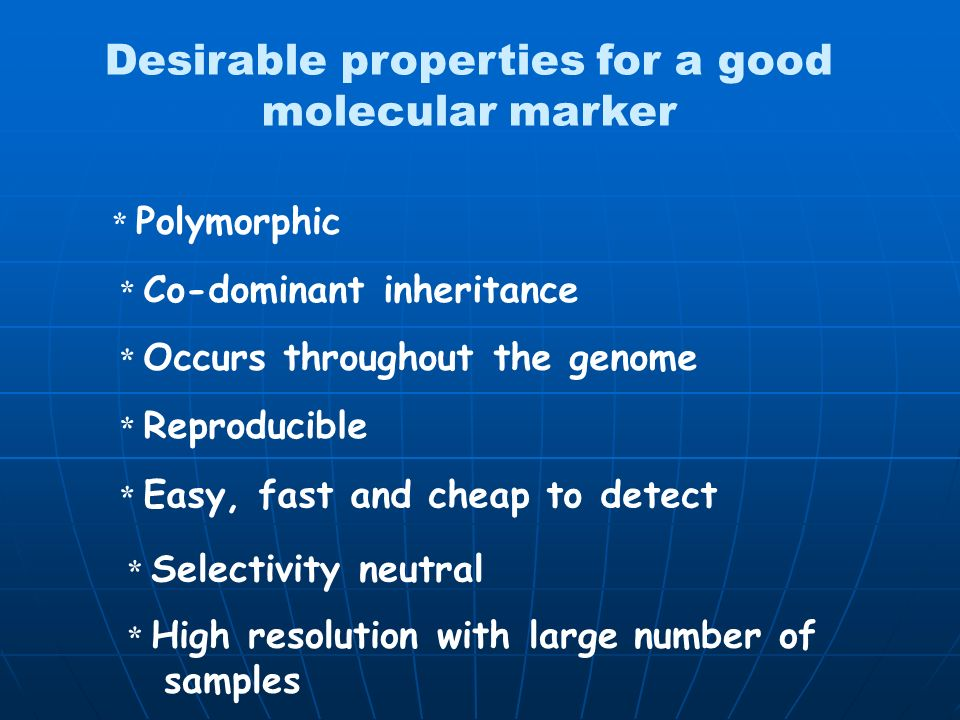 Desirable properties for a good