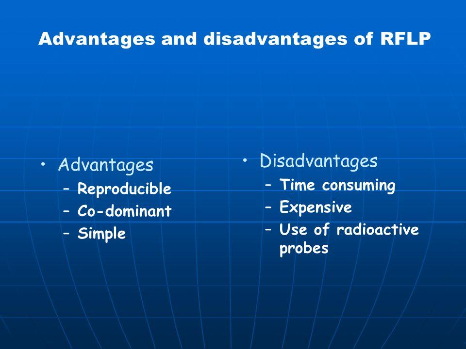 Advantages and disadvantages of RFLP