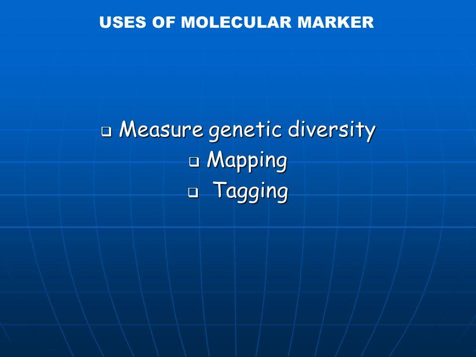 USES OF MOLECULAR MARKER