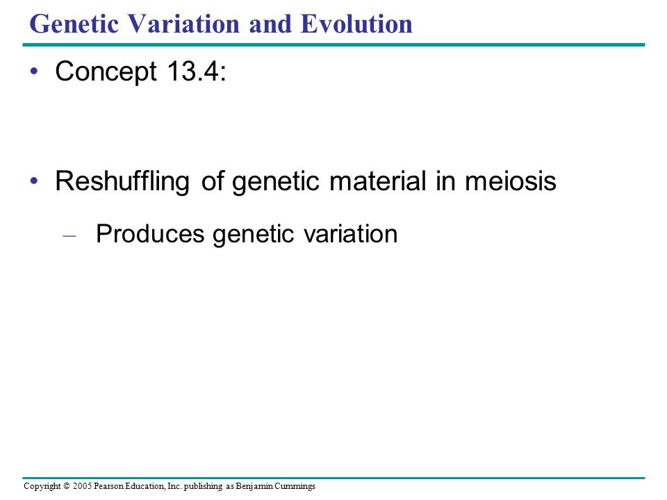 Genetic Variation and Evolution