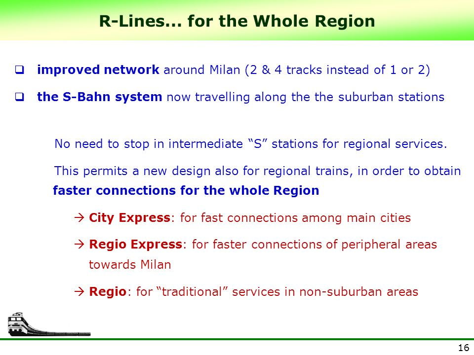 R-Lines... for the Whole Region