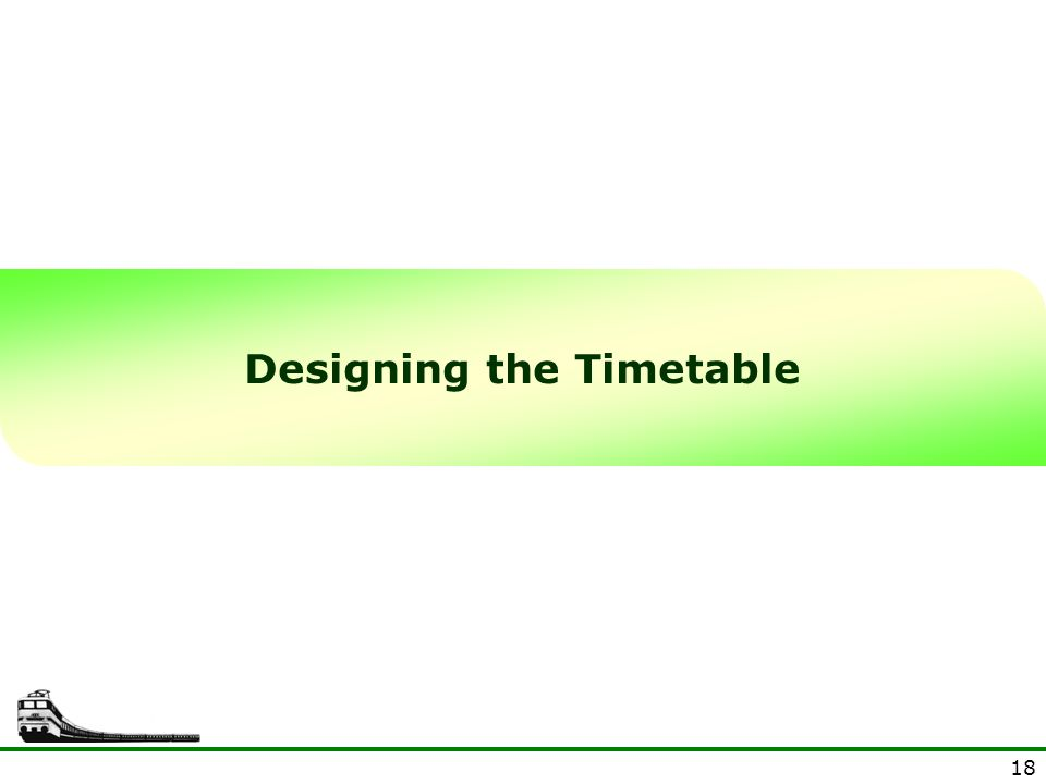 Designing the Timetable