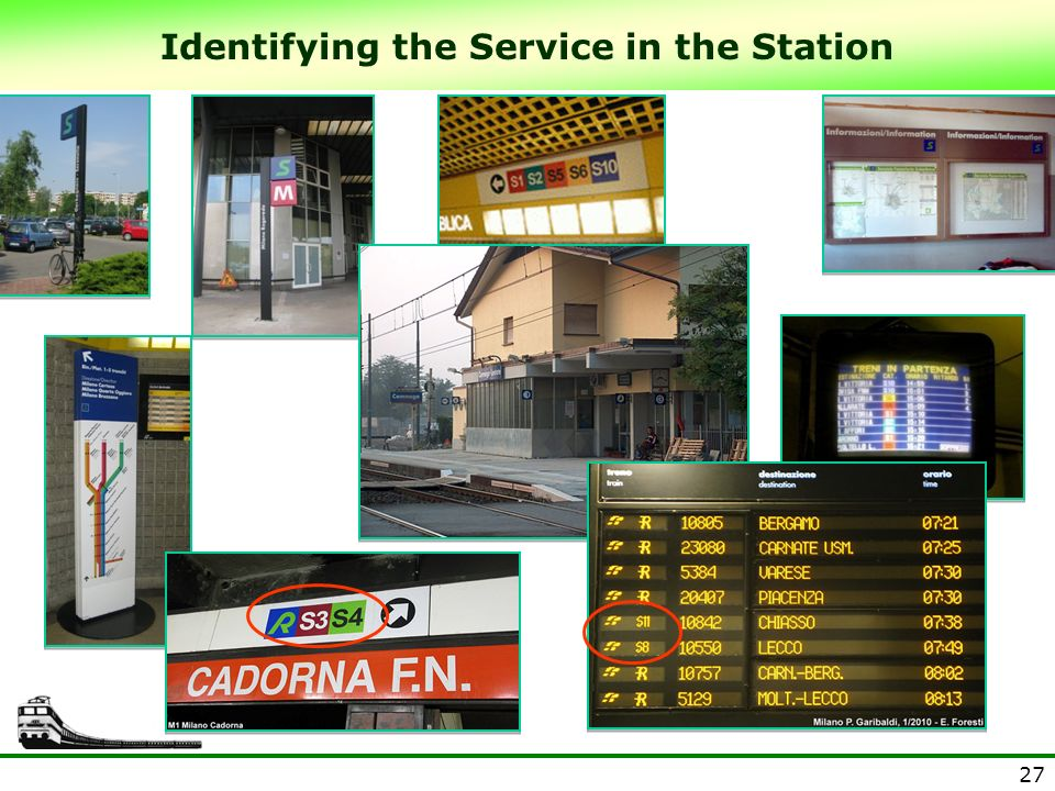 Identifying the Service in the Station