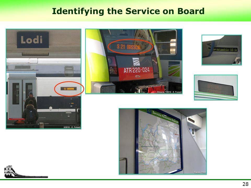 Identifying the Service on Board