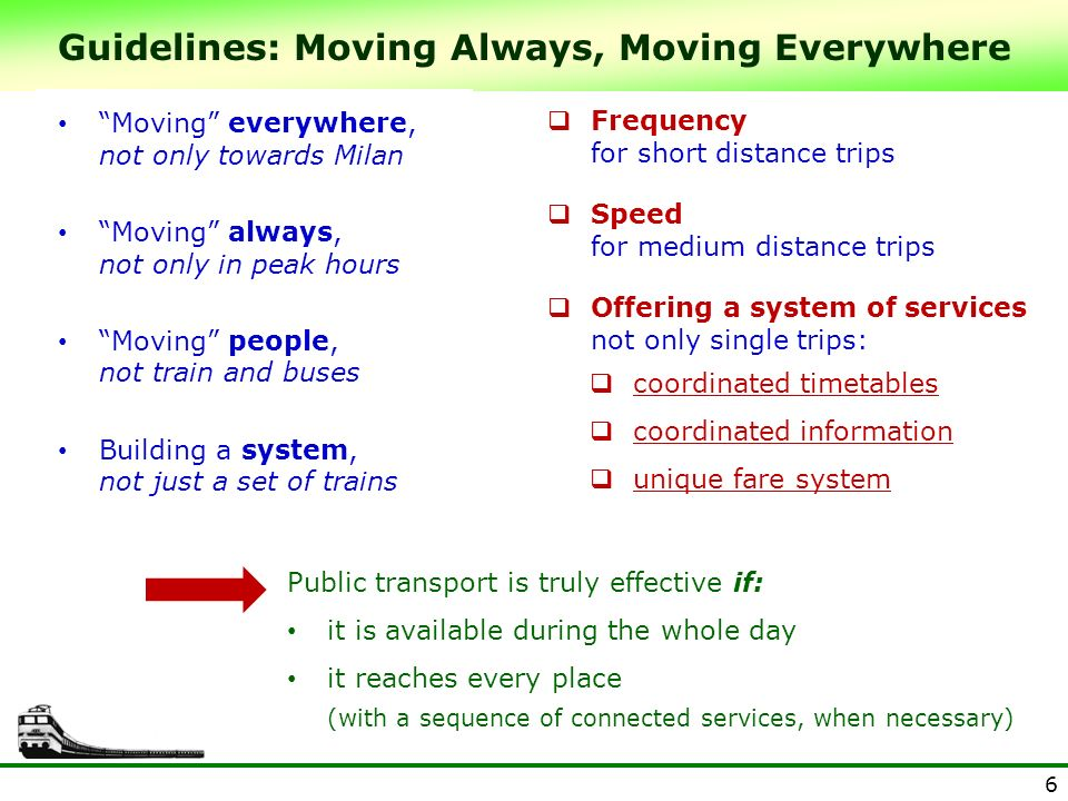 Guidelines: Moving Always, Moving Everywhere